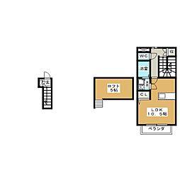 メランツァーノ[2階]の間取り
