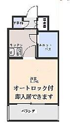 神奈川県横浜市旭区四季美台の賃貸マンションの間取り