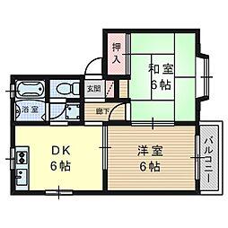 グリーングラスハウス[2階]の間取り