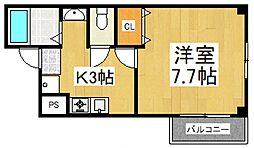 ペールアクア[2階]の間取り
