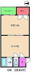 ハイツ丸松[3階]の間取り