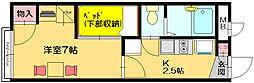 レオパレスヴィーブルII[1階]の間取り