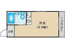 JPアパートメント住吉III[4階]の間取り