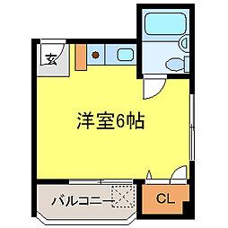 近畿レジデンス[202号室]の間取り