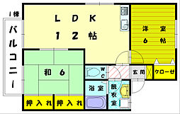 エクレール渋田2[2階]の間取り