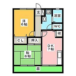 プランドール江崎[1階]の間取り