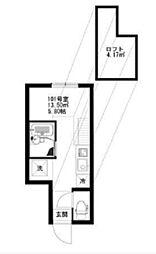 ルオント大森山王[203号室]の間取り