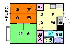 エルディム5-2[1階]の間取り