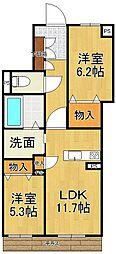 仮称シャーメゾン南武庫之荘4丁目[1階]の間取り