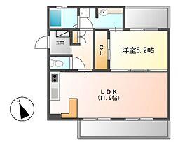 パークホームズ覚王山WEST[1階]の間取り