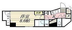 GRAN PASEO麻布十番 9階1Kの間取り