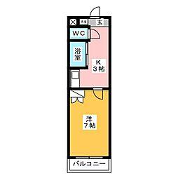 mt.cedar room[1階]の間取り