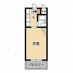 東京都世田谷区砧6丁目の賃貸マンションの間取り
