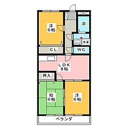 ガーデンスプリーム[4階]の間取り