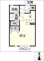 リビングタウン乙田G[1階]の間取り