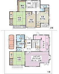 [一戸建] 千葉県浦安市舞浜3丁目 の賃貸【/】の間取り
