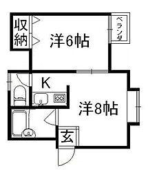シティハイツ池亀[3階]の間取り