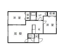 マンションLUPO[1-2号室]の間取り