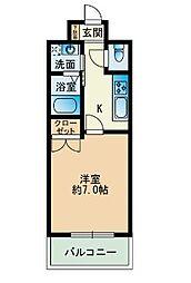 大三祇園ビル[302号室]の間取り