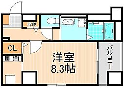 東京都足立区加平1丁目の賃貸マンションの間取り