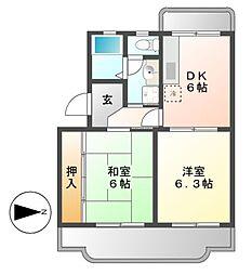リブェールSANAGE[1階]の間取り