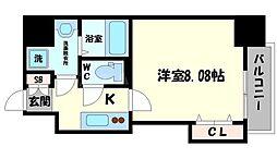 DwellingASAHI 10階1Kの間取り