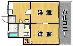 橋本荘[1階]の間取り