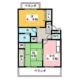 クレインハイム[1階]の間取り