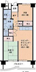 Osaka Metro南港ポートタウン線 ポートタウン西駅 徒歩3分の賃貸マンション 1階2LDKの間取り