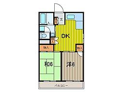 木村ビル[4階]の間取り