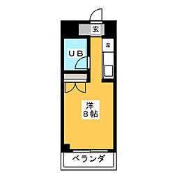 NOA松野[4階]の間取り