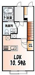 仙台市営南北線 五橋駅 徒歩6分の賃貸アパート 1階ワンルームの間取り