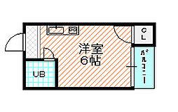 野江ハイツ[4階]の間取り