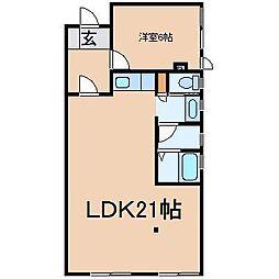Kasumi[101号室]の間取り