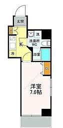 東京メトロ日比谷線 築地駅 徒歩2分の賃貸マンション 4階1Kの間取り