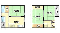 [一戸建] 兵庫県姫路市土山4丁目 の賃貸【/】の間取り