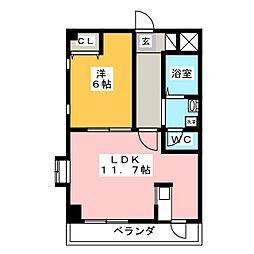 クラウン杉本 F[5階]の間取り