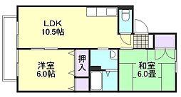 プレジール富井C棟[2階]の間取り