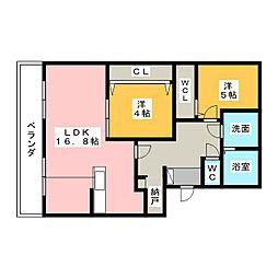 Re・allot東若林[1階]の間取り