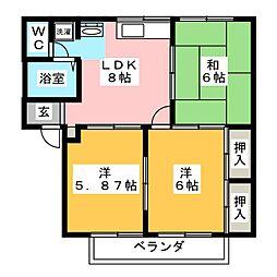 エスポワール横井[1階]の間取り