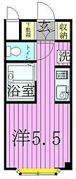 松戸YKマンション[2201号室]の間取り