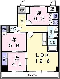 シエル青山[4階]の間取り