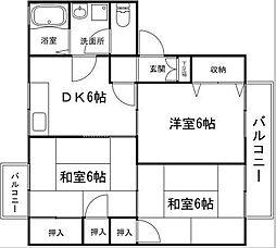 シャトルSK B棟[2階]の間取り