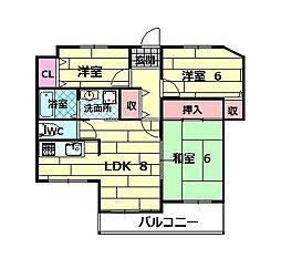 桃山台パレス・モミの木[3階]の間取り