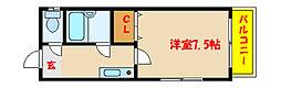兵庫県明石市西新町1丁目の賃貸マンションの間取り