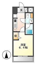 レジディア久屋大通[5階]の間取り