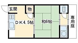 高野アパート[3号室]の間取り