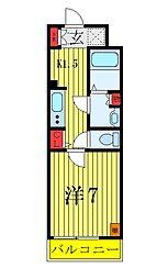 JR山手線 池袋駅 徒歩11分の賃貸マンション 1階1Kの間取り