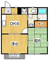 メゾンOKUTSU A[201号室号室]の間取り