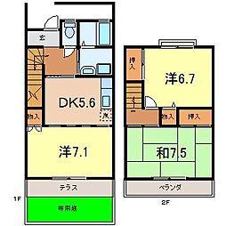[テラスハウス] 愛知県安城市新田町 の賃貸【/】の間取り